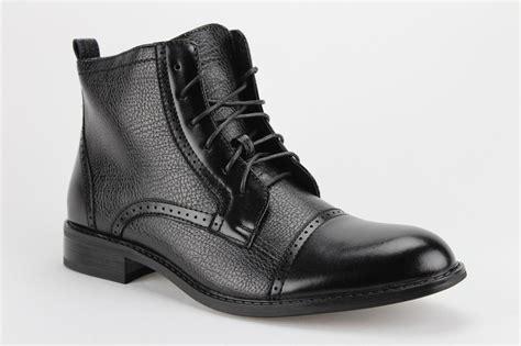 aldo ankle boots mens ferro aldo mens ankle high casual dress boots cap toe