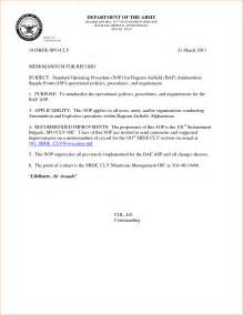 Air Memo For Record Template by 6 Memorandum For Record Exle Memo Formats