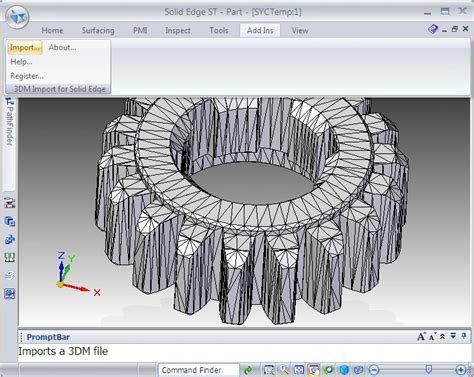 Free Home Design Software For Windows Vista by 3dm Import For Solid Edge 1 0 Screenshots