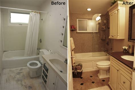 before and after bathroom remodel bath remodeling gallery