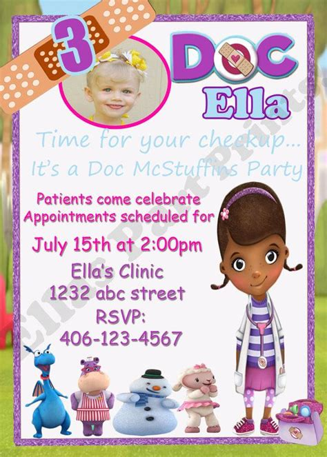 doc mcstuffins invitation template doc mcstuffins birthday invitation 10 00 via etsy