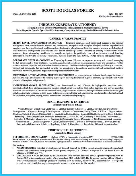 Sle Resume Experienced Attorney
