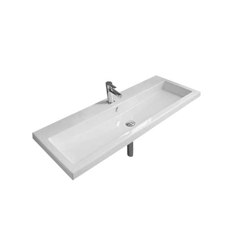 home depot wall mount sink elanti wall mounted rectangle bathroom sink in white