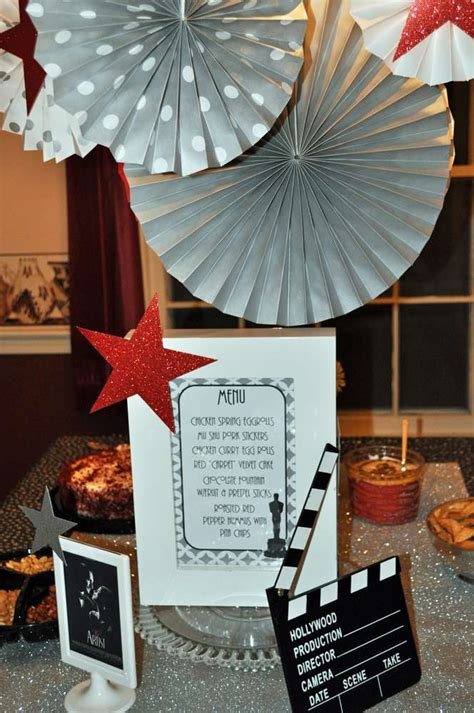 oscar themed decoration ideas academy awards ideas photo 1 of