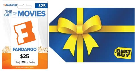 Fandango Gift Card Activation - best buy 25 fandango gift card and 5 best buy gift card only 25 shipped hip2save