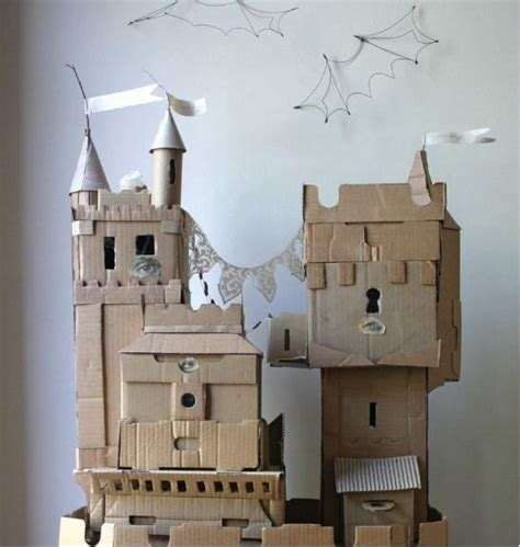 Make A Paper Castle - 117 best cardboard sculpture images on