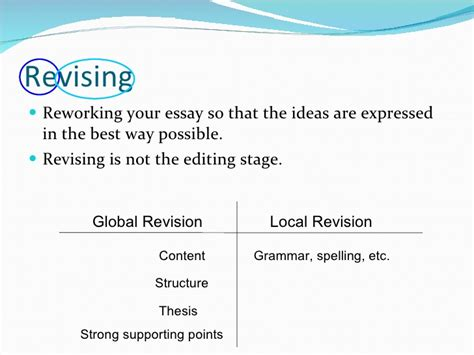 Essay Writing Ppt by Revising An Essay Powerpoint Essay Revision Powerpoint