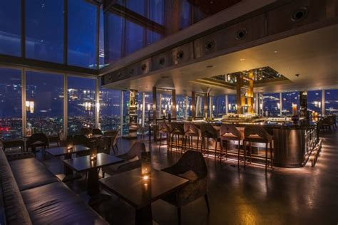 bar at the top of the shard richard southall architectural photographer aqua bar
