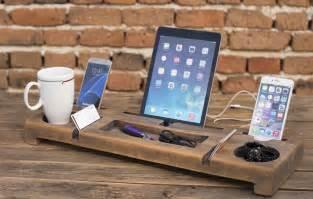 desk organizer wooden organizer phone holder office
