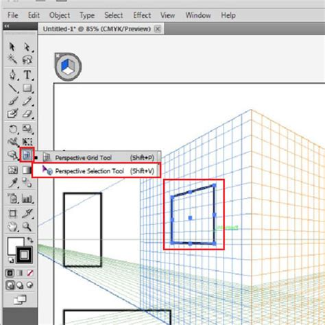 Reset Perspective Tool Illustrator | how to move flat art onto the perspective grid in adobe