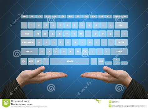 free stock photo hands over keyboard virtual keyboard interface royalty free stock photography