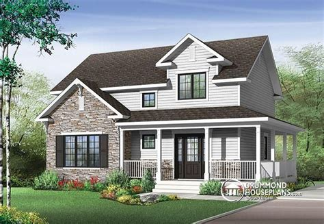 house plans with large porches w3721 transitional style house plan with wraparound porch large kitchen island open floor