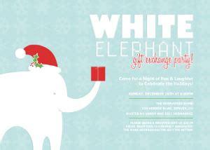 Holiday Party Invitations White Elephant Party By Mixbook Free White Elephant Invitation Template