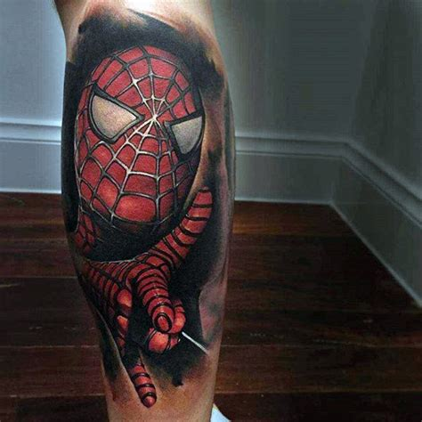 tattoo 3d spiderman 100 spiderman tattoo design ideas for men wild webs of ink