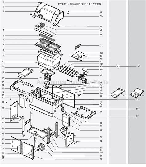 weber genesis parts diagram weber genesis gold b ng 2005 parts bbqs and gas grills
