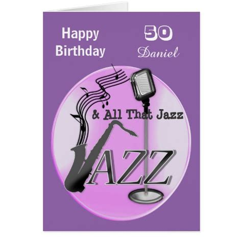 personalized jazz music themed happy birthday card zazzle
