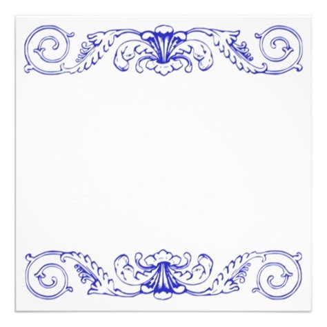 fantastic blue invitation borders 9 unique invitation