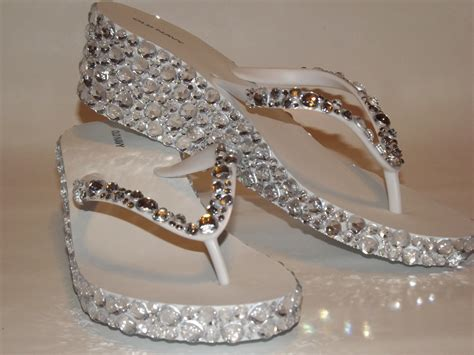 Sandal Wedges Flipflop Silver Flat Sandals With Rhinestones Car Interior Design