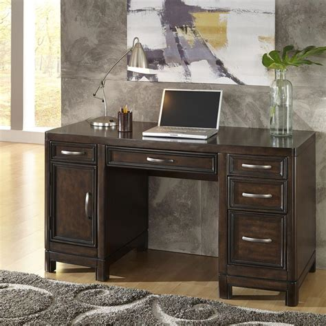 home styles 5549 5018a crescent home styles crescent hill dark tortoise shell desk 5549 18