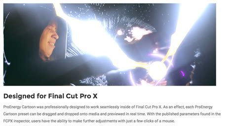 final cut pro news a new fcpx plugin called proenergy cartoon was released by