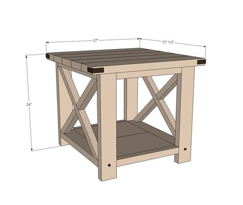 free sofa table plans ana white build a rustic x end table free and easy diy