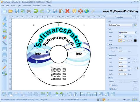 cd label maker software free download ronyasoft cd dvd label maker 3 2 4 crack keygen download