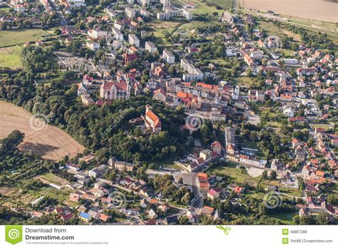 Top House Plans by Aerial View Of Nysa Town In Poland Stock Photo Image
