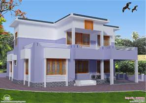 Flat Roof House Design by 2419 Sq Feet Flat Roof House Design Kerala Home Design