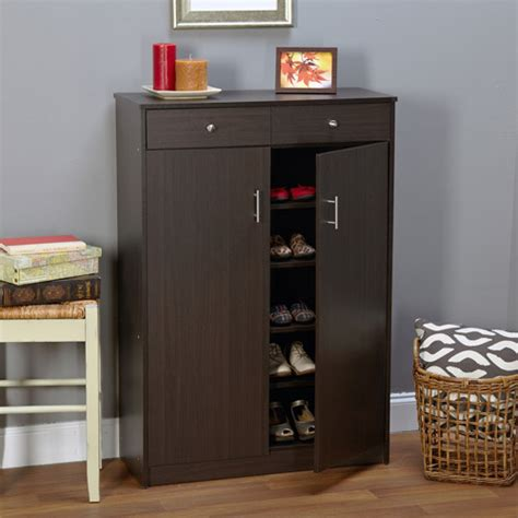entryway shoe storage cabinet seth entryway shoe cabinet multiple finishes walmart com