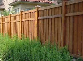what are the common types of fences used in houses