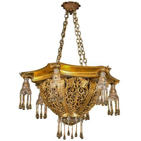 European Chandelier Antique Tear Drop European Bronze Chandelier At 1stdibs