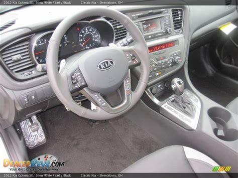 Kia Optima White Interior Black Interior 2012 Kia Optima Sx Photo 9 Dealerrevs