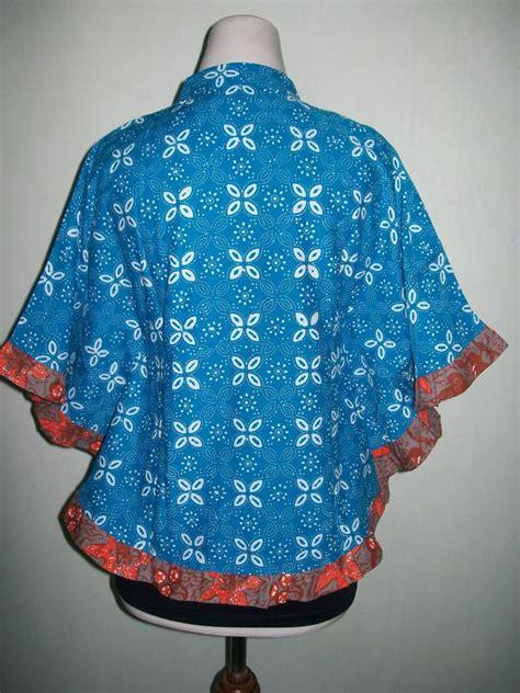 Blus Batik Lilin Abitex 003 model blus batik kelelawar atau blus batik kipas terbaru dan murah bkp003 toko batik 2018