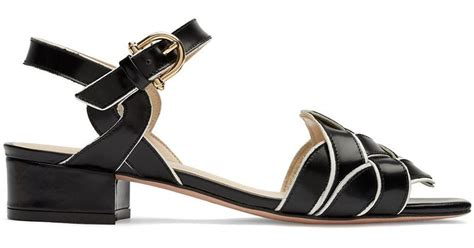 Aigner Revolve etienne aigner ella leather knotted sandals in black lyst
