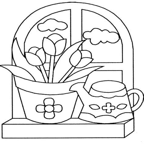 imagenes para pintar macetas dibujos de flores para colorear y imprimir