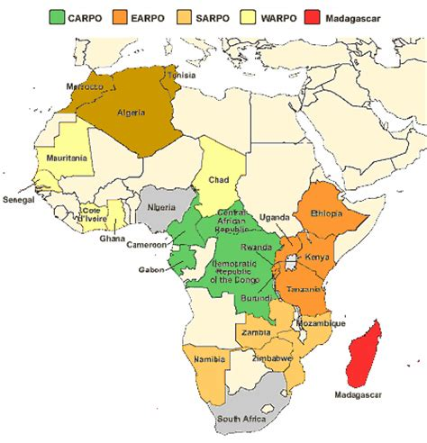 lafrica mappa africa cartina politica