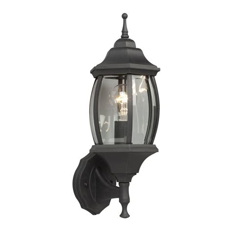 galaxy outdoor wall light shop galaxy 17 5 in h black outdoor wall light at lowes com