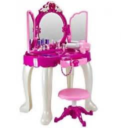 Play Vanity Australia Make Up Vanity Desk Table And Stool Mirror Playset