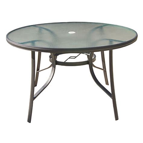 wilson fisher 174 48 quot glass top dining table big lots