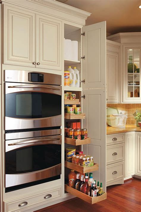 kitchen cabinet rollouts this pullout pantry cabinet has five rollout trays that