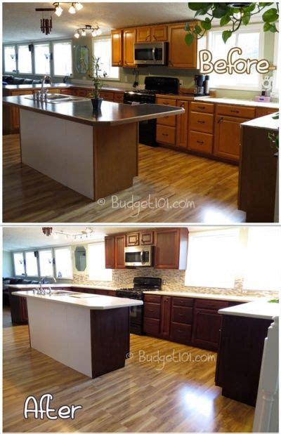 how to redo kitchen cabinets cheap budget101 com diy kitchen transformation dirt cheap