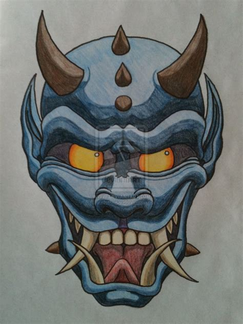 oni mask tattoo designs 2012