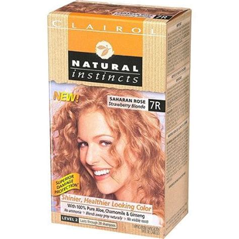 strawberry blonde boxed color clairol natural instincts blonde hair colors strawberry