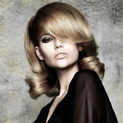 styles for blow drying short bob side fringe hairstyles woman and home