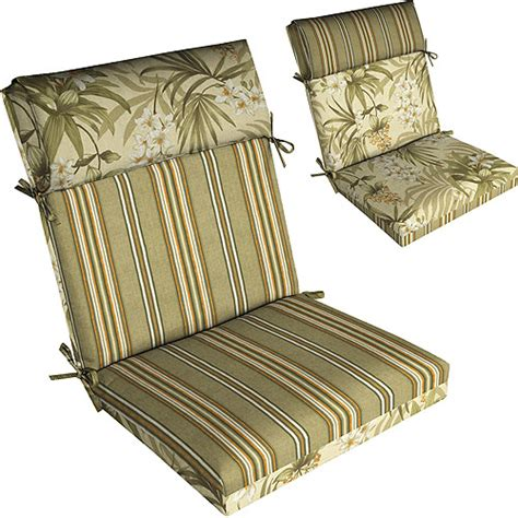 Patio Chair Cushions Walmart Kingsbury Stripe Twilight Pillow Top Outdoor Chair Cushion Patio Outdoor Decor Walmart