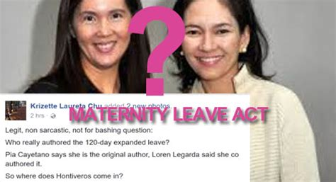 extend maternity leave to 100 days sen pia s cayetano so who really authored the maternity leave act cayetano