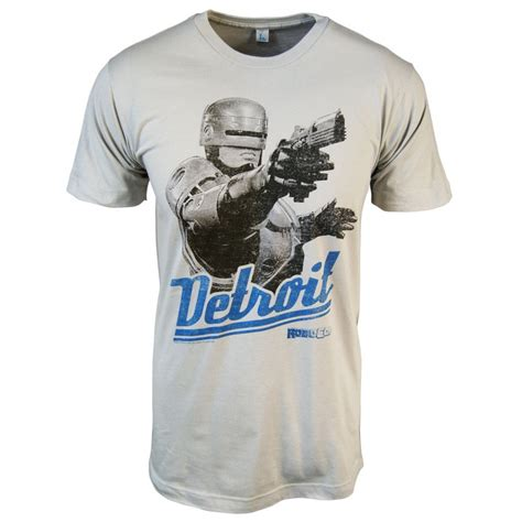 T Shirt Detroid honcho sfx mens robocop detroit t shirt grey honcho sfx