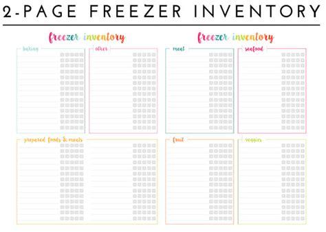 organizing the freezer with free printable freezer
