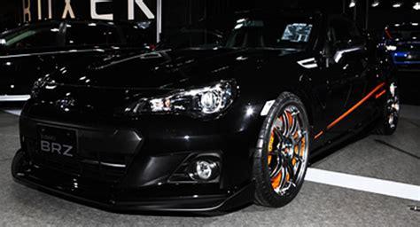 subaru brz all black subaru brz black edition by prova from the tokyo auto
