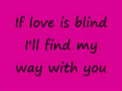 If Is Blind Lyrics atc if is blind lyrics